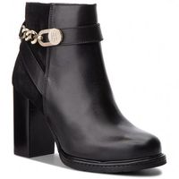 Botki - th chain heeled boot fw0fw03449 black 990, Tommy hilfiger, 36-41