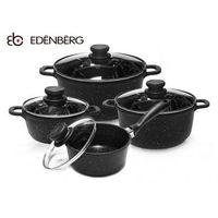 GARNKI GRANITOWE EDENBERG BLACK 8 ELE [EB-9180], kolor czarny