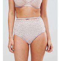 Peek & beau floral trim high waist bikini bottom - pink