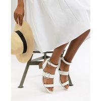 dustin buckle mid heel sandals - white marki Faith