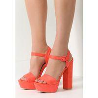 Vices Pomarańczowe sandały chic heels