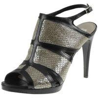 Sandały 79106 czarne fl+dke marki Nessi