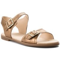 Sandały CLARKS - Bay Primrose 261319364 Bronze Metallic, kolor żółty