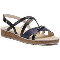 Sandały ANN MEX - 0157 01S+05SN+01L Granat, w 5 rozmiarach