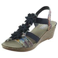 Sandały 62461 - wielokolorowe marki Rieker