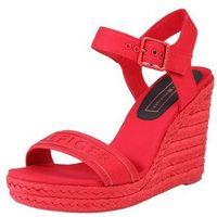 sandały z rzemykami 'colorful tommy wedge sandal' czerwony, Tommy hilfiger, 36-42