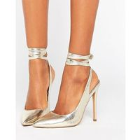 pipe down pointed high heels - gold marki Asos