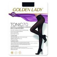 Rajstopy Golden Lady Tonic 70 den 2-S, brązowy/marrone scuro. Golden Lady, 2-S, 3-M, 4-L, 5-XL, kolor brązowy