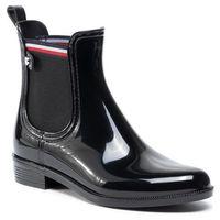 Kalosze - color block rainboot fw0fw04492 black bds marki Tommy hilfiger