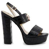 Sandały damskie VERSACE JEANS - VRBS22_70124-25, kolor czarny