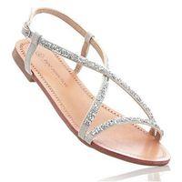 Sandały bonprix srebrny, w 3 rozmiarach