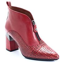 HISPANITAS HI87550 CZERWONE - Hiszpańskie botki, kolor czerwony