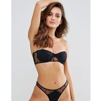 Lost Ink Polka Dot Mesh Bikini Top - Black, bikini