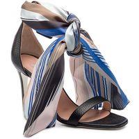 Sandały - sa16388c07t7100a nero marki Pollini
