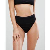 mix & match ribbed highwaisted bikini brief - black, Boohoo