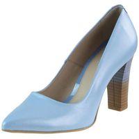 Czółenka Marco 0071P - 447-039-M-1 Niebieskie, kolor niebieski