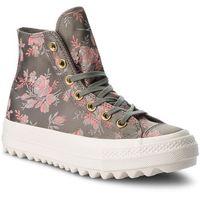 Sneakersy - ctas lift ripple hi 561656c river rock/floral/egret, Converse