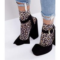 ASOS DESIGN leopard print ankle socks - Multi
