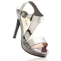 Sandały bonprix antracytowy metaliczny