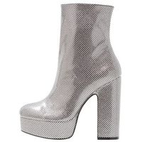 Shellys London ISSA Botki na obcasie silver/black
