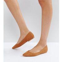 Asos latch pointed ballet flats - beige, Asos design