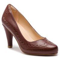 Clarks Półbuty - dalia ruby 261349454 tan leather