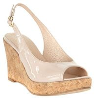 Phase Eight Daisy Leather Wedge, kolor beżowy