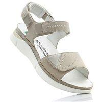 Wygodne sandały skórzane bonprix biały
