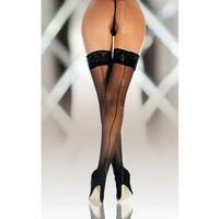Stockings 5530 - black pończochy ze szwem