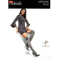 Zakolanówki Adrian Apolline 100 den 1/2-XS/S, szary/melange, Adrian