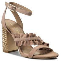 Sandały BRUNO PREMI - Camoscio + Tacco R3002X Nude/Platino, w 2 rozmiarach