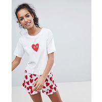 ASOS Me & You Jersey Tee & Woven Tee And Short Pyjama Set - Multi