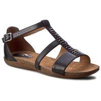 Sandały CLARKS - Autumn Fresh 261243174 Black Combi Leather, kolor czarny