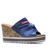 Klapki 44c0242 jeans marki Lanqier