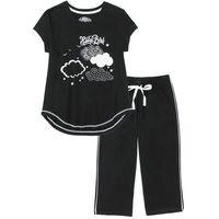 Piżama ze spodniami 3/4 czarno-biały marki Bonprix