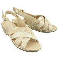 Aloeloe aa244018 srebrny, sandały damskie