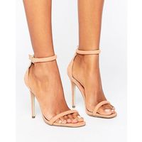 Missguided barely there ankle strap heeled sandals - pink