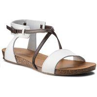 Sandały GINO ROSSI - Zira DN613M-TWO-BNBG-1137-0 00/92, kolor biały