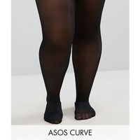 Asos curve 2 pack 50 denier tights - black