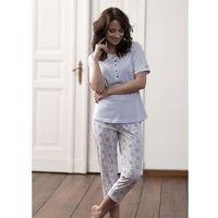 Piżama Cana 177 kr/r S-XL S, biało-błękitny, Cana