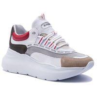 Sneakersy BRONX - 66265-CM BX 1585 Cappuccino/Khaki/Red 3044, w 6 rozmiarach