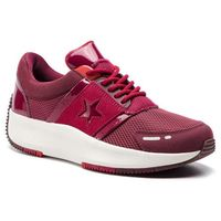 Converse Sneakersy - run star ox 163312c dark burgundy/rhubarb