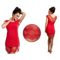 Koszula nocna ESTELLE: czerwień, kolor czerwony