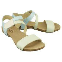 PANTO FINO 2003-A mint/niebieski/ecru, sandały damskie, kolor niebieski