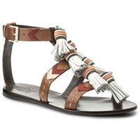 Sandały TORY BURCH - Weaver Tassel Sandal 51158685 Multi Tan/Light Almond 242, 35-38