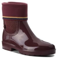 Kalosze - knitted sock rain bo fw0fw03565 decadent chocolate 296, Tommy hilfiger, 36-42