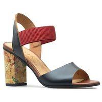 Sandały Ryłko 9HH81T4 _3IHF Czarne/Czerwone lico