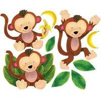 Naklejka dekoracyjna małe małpki w13052 marki Wallies