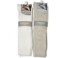 Podkolanówki cotton art.41292 a'2 39-42, kremowy, wik, Wik