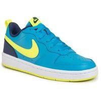 Buty NIKE - Court Borough Low 2 (GS) BQ5448 400 Laser Blue/Lemon Venom, kolor niebieski
